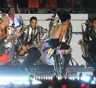 Seul le chanteur des Red Hot Chili Peppers était en live...