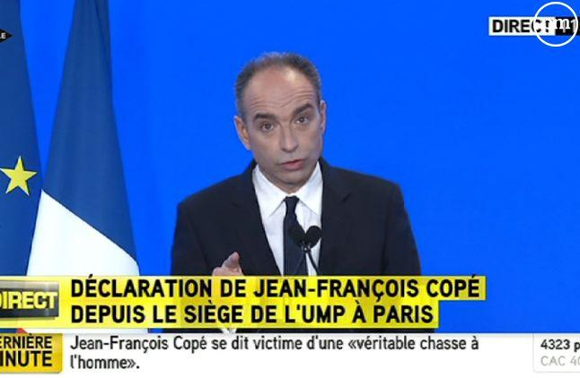 Jean-François Copé, au siège de l'UMP le 3 mars 2014.