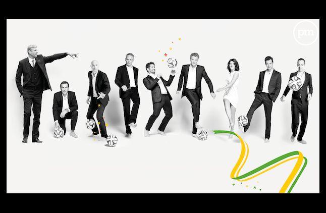 L'équipe de TF1 pour la Coupe du Monde 2014.