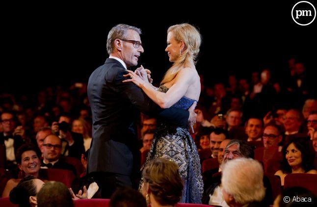 Lambert Wilson et Nicole Kidman, pour la cérémonie d'ouverture du 67e festival de Cannes.