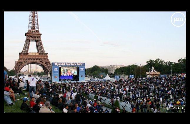 Pour l'Euro 2012, un écran géant avait été installé au Trocadéro.