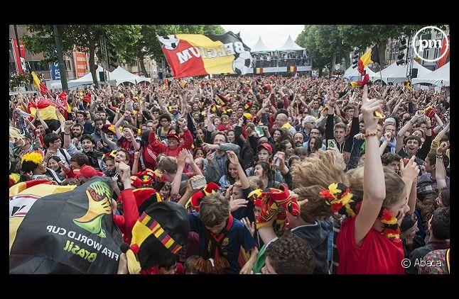 Supporters lors du match Belgique-Algérie hier après-midi