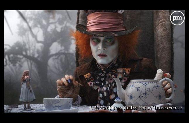 """""""Alice au Pays des merveilles"""" (2010) de Tim Burton avec Johnny Depp"""