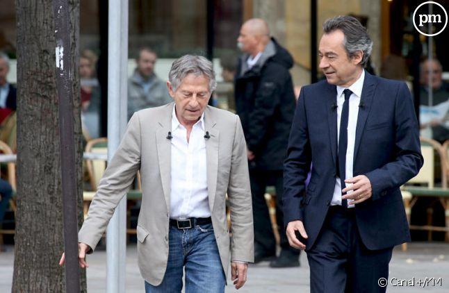 Michel Denisot, en 2013 avec Roman Polanski.