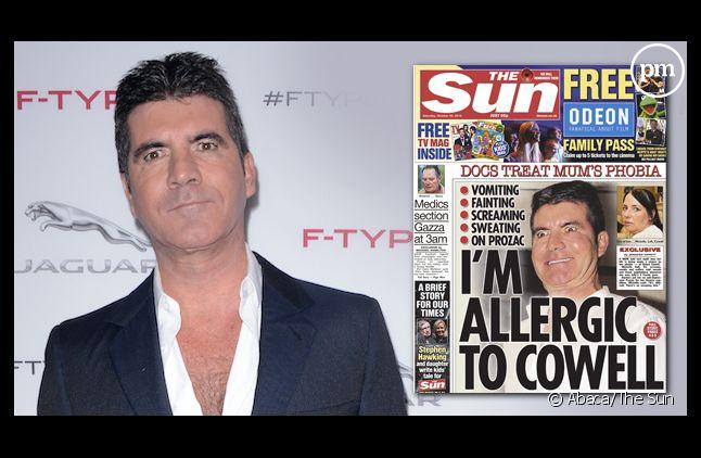Une femme allergique à Simon Cowell en Une du Sun