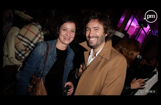 Elisabeth Levy avec <span>Christophe Ono-Dit-Biot en 2013</span>