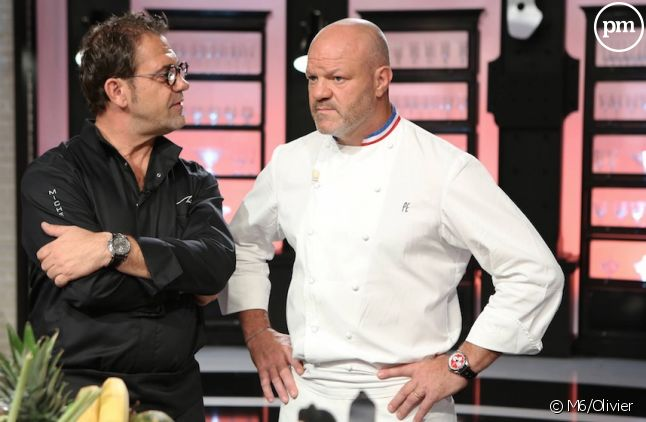 "Michel Sarran et Philippe Etchebest dans ""Top Chef"" 2015"