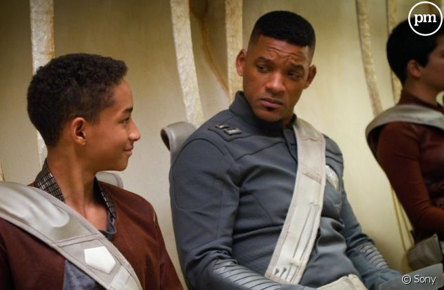"Will Smith et son fils Jaden dans ""After Earth"""