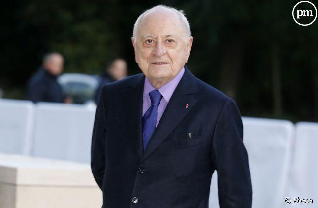 """Pierre Bergé, actionnaire du journal """"Le Monde""""."""