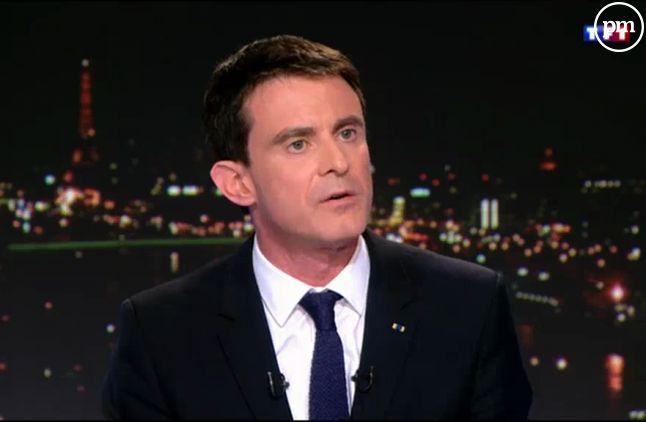 Manuel Valls, au 20 heures de TF1 le 17 février 2015.
