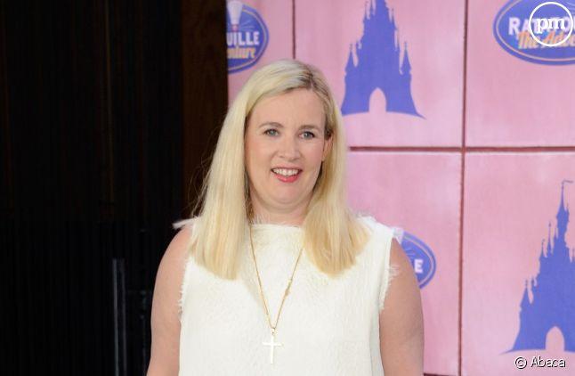 """Hélène Darroze lors de l'ouverture de l'attraction """"Ratatouille"""" à Disneyland Paris."""