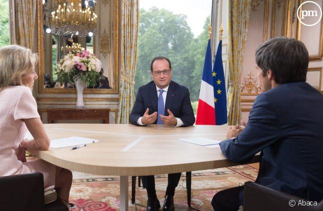 Claire Chazal et David Pujadas face à François Hollande