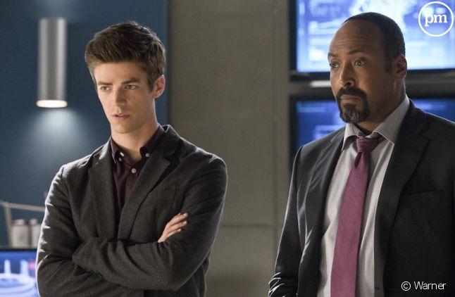"Grant Gustin et Jesse L Martin dans ""Flash"""