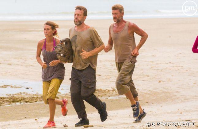"Chantal, Marc, Bruno et Melissa dans ""Koh-Lanta"" 2015"