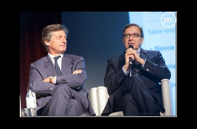 Nicolas de Tavernost et Nonce Paolini, patrons de M6 et TF1