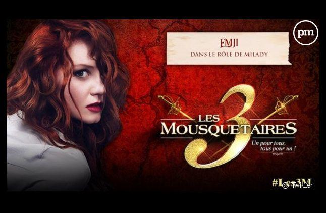 """Emji, gagnante de la """"Nouvelle Star"""" 2015, rejoint la troupe des """"3 Mousquetaires""""."""