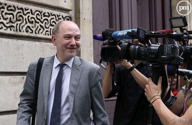 Denis Baupin face à des journalistes en 2016