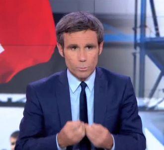 David Pujadas au 20 Heures de France 2.