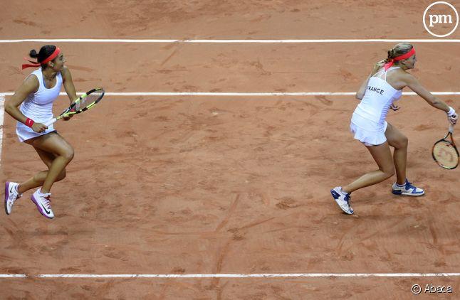 <p>Caroline Garcia et Kristina Mladenovic font tenter de remporter Roland-Garros en double</p>