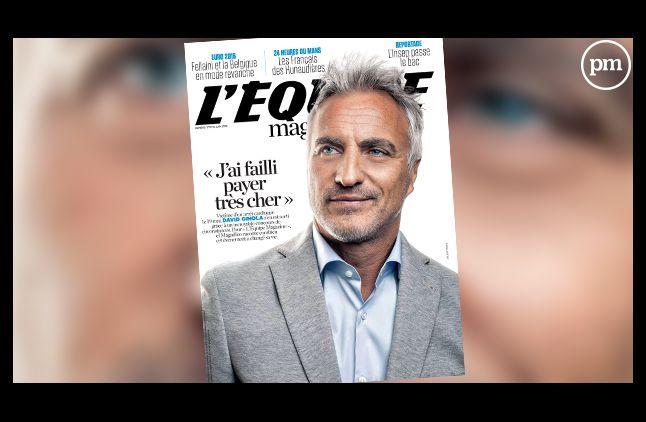 """David Ginola, dans """"L'Equipe mag"""" ce week-end."""