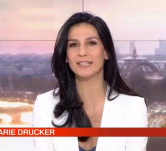 Marie Drucker faisait hier soir ses adieux au JT