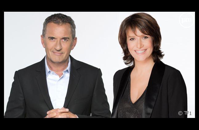Christophe Dechavanne et Carole Rousseau.