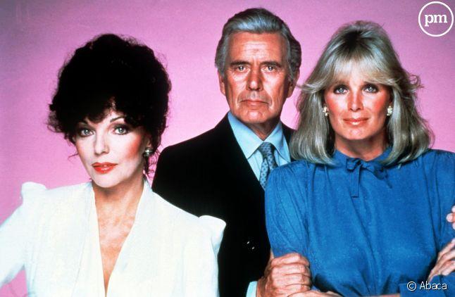 <span>Joan Collins, John Forsythe et Linda Evans</span>
