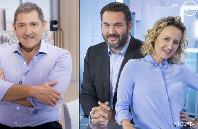 Yves Calvi, Bruce Toussaint et Caroline Roux.