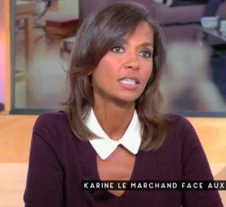 Karine Le Marchand mouche Patrick Cohen dans 'C à vous'