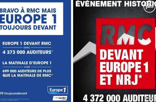 Campagnes publicitaires de Europe 1 et RMC