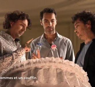 'Trois hommes et un couffin' sur scène