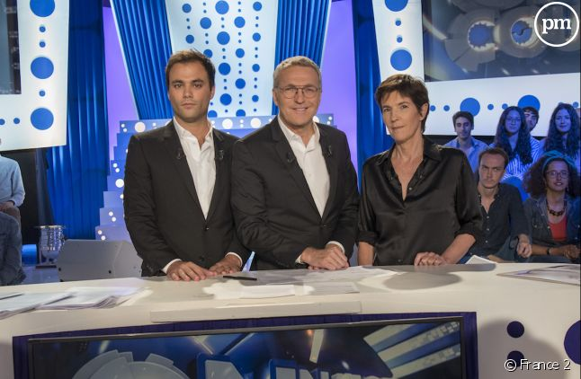 Charles Consigny, Laurent Ruquier et Christine Angot.
