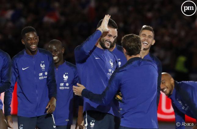L'équipe de France fête son titre au stade de France.