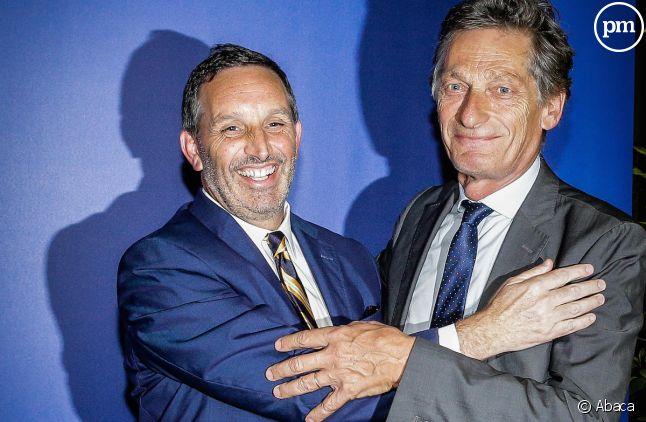 Le nouvel actionnaire Joseph DaGrosa et le patron de M6, Nicolas de Tavernost.