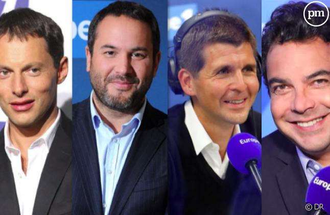 Marc-Olivier Fogiel, Bruce Toussaint, Thomas Sotto et Patrick Cohen