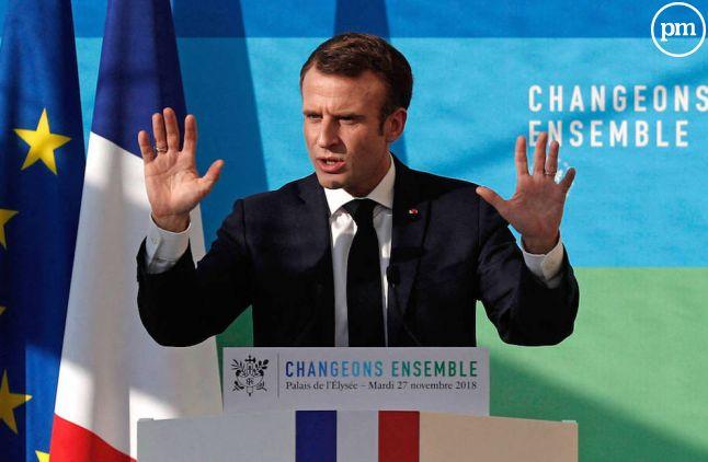 Emmanuel Macron le 27 novembre 2018