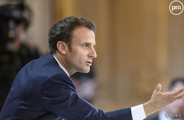 Emmanuel Macron à l'Elysée le 25 avril 2019