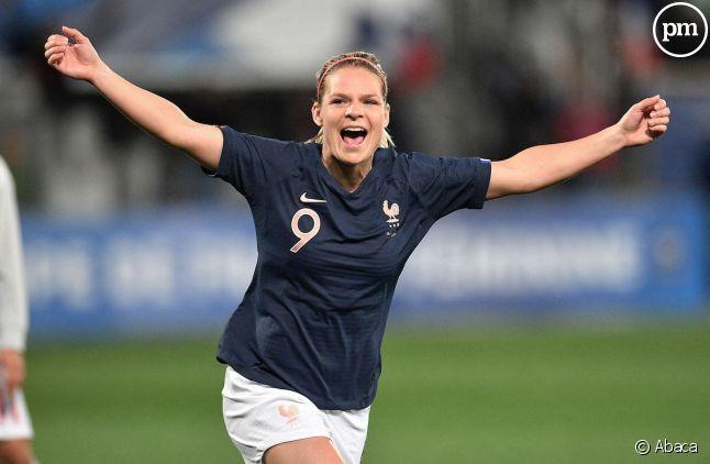 Eugénie Le Sommer, attaquante de l'équipe de France.