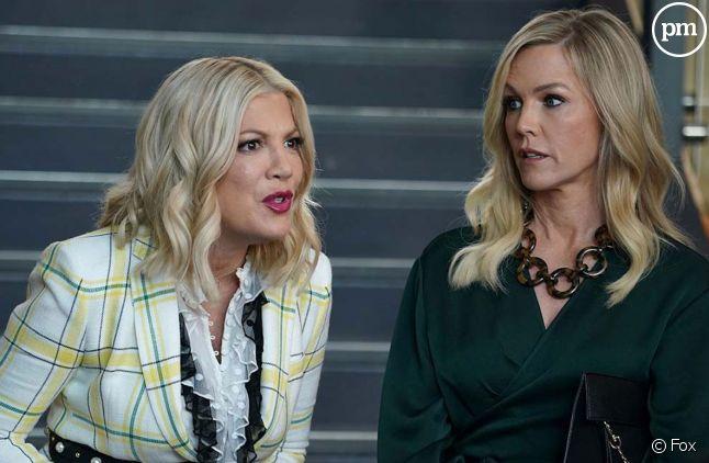 """Jennie Garth et Tori Spelling dans """"BH90210"""""""