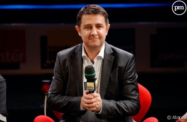 Laurent Guimier à la conférence de presse de Radio France en août 2015.