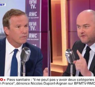 Clash entre Nicolas Dupont-Aignan et Philippe Corbé sur...