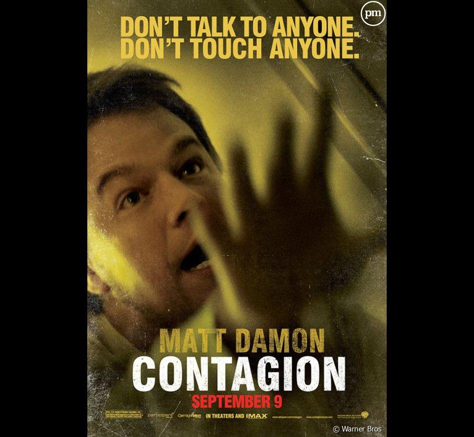 """Matt Damon sur une affiche promotionnelle de """"Contagion"""""""