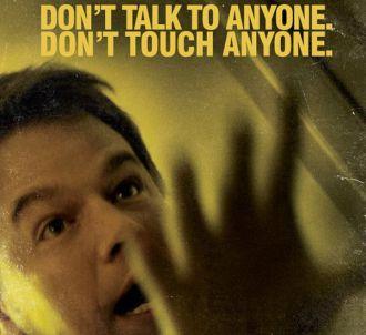 Matt Damon sur une affiche promotionnelle de 'Contagion'