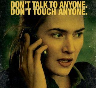 Kate Winslet sur une affiche promotionnelle de 'Contagion'