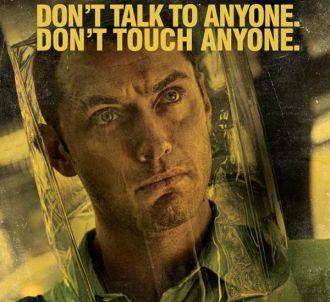 Jude Law sur une affiche promotionnelle de 'Contagion'