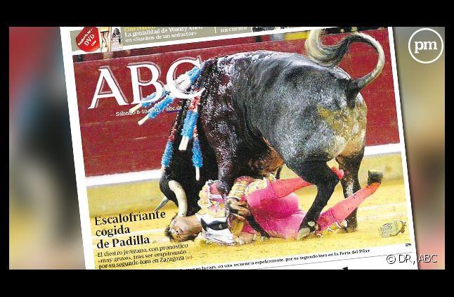 La Une du quotidien ABC daté du 9 octobre 2011.