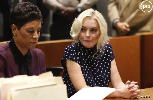 Lindsay Lohan et son avocate lors de l'audience du 2 novembre 2011