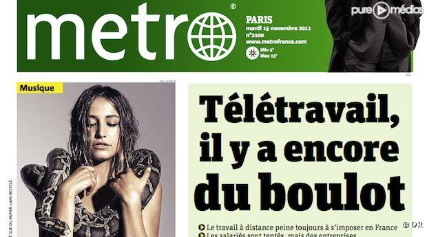 Le quotidien Metro du mardi 15 novembre 2011