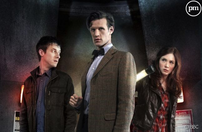 "Arthur Darvill, Matt Smith et Karen Gillan dans ""Doctor Who"", saison 6"