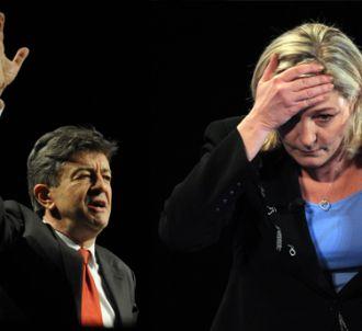 Jean-Luc Mélencon et Marine Le Pen.